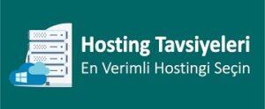 hosting tavsiyeleri